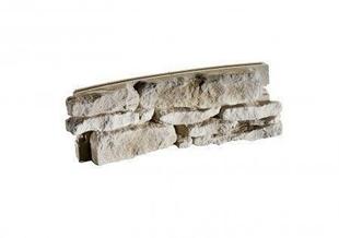 Mur de Causse cintré intérieur pour muret en pierre reconstituée IDEABLOCK haut.20cm long.52cm coloris naturel - Gedimat.fr