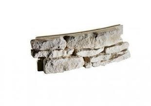 Mur de Causse cintré extérieur pour muret en pierre reconstituée IDEABLOCK haut.20cm long.52cm coloris naturel - Gedimat.fr