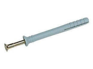 Cheville à clouer nylon + vis diam.6mm long.40mm - Gedimat.fr