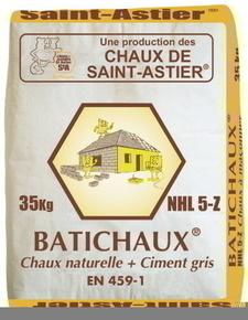 Chaux naturelle grise batichaux nhl 5 z sac 35kg - Chaux st astier ...