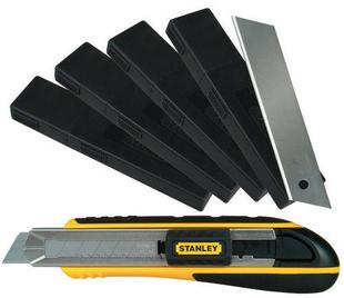 Lame de cutter 18mm lot de 4x10 pièces et un cutter à cartouche ABS bi matière ergonomique Fatmax 18mm - Gedimat.fr
