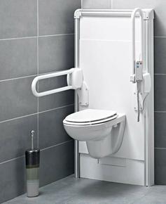 sanimatic wc sfa pour pmr 1500w 230v 55kg blanc. Black Bedroom Furniture Sets. Home Design Ideas