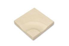 Caniveau courbe dalle pour terrasse ou piscine en pierre reconstituée ABBAYE dim.35x35cm coloris pierre - Gedimat.fr
