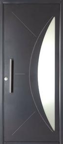 Porte d'entrée SONORA en aluminium droite poussant haut.2,15m larg.90cm - Gedimat.fr