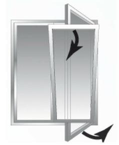 Fenêtre PVC blanc CALINA isolation totale de 120 mm 2 vantaux oscillo-battant haut.1,25m larg.1,00m - Gedimat.fr