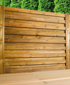 Raidisseur pour clôture EOLIA et CEYLAN ép.16mm larg.4cm long.2,00m brun - Gedimat.fr