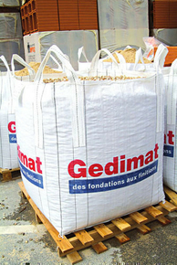 big bag de chantier gedimat non r utilisable charge utile