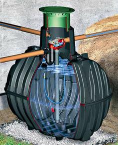 Kit de récupération et utilisation d'eau de pluie à enterrer HABITAT CARAT XL cuve 10000L - Gedimat.fr