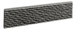 plaquettes de parement en pierre reconstitu e cisele coloris anthracite. Black Bedroom Furniture Sets. Home Design Ideas