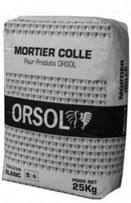 Mortier colle ORSOL - Gedimat.fr