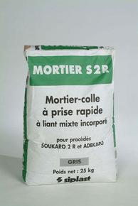 Mortier colle S2R gris à adhérence améliorée à prise rapide (procédé Soukaro) 25kg - Gedimat.fr
