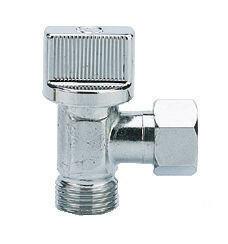 Robinet d'arrêt WC équerre 1/4 de tour diam.12x17mm laiton chromé - Gedimat.fr
