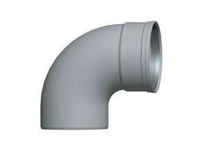 Coude PVC assainissementmF 90° diam.125mm type SDR 34 - Gedimat.fr
