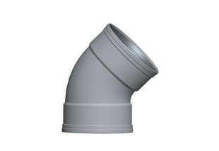 Coude PVC CR8 FF 45° diam.200mm TYPE SDR 34 - Gedimat.fr
