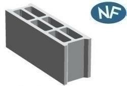 Bloc béton creux B40 NF ép.20cm haut.20cm long.50cm - Gedimat.fr