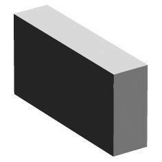 Plotet béton plein ép.5cm haut.11cm long.22cm - Gedimat.fr