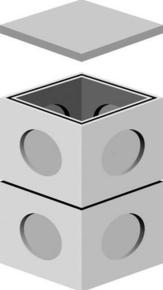 Rehausse de regard béton REP dim.ext.30x30cm haut.25cm - Gedimat.fr