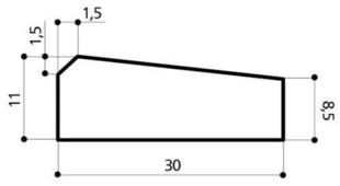 Caniveau béton CS4 réduit larg.30cm haut.11cm long.1m - Gedimat.fr