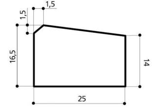 Caniveau béton CS3 larg.25cm haut.16,5cm long.1m - Gedimat.fr