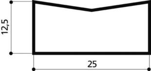 Caniveau béton C25 larg.25cm haut.12cm long.1m - Gedimat.fr