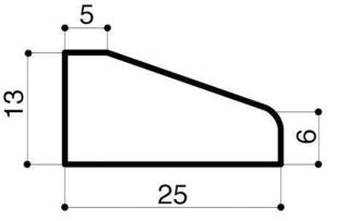 Bordure béton d'îlot directionnel I1 larg.25cm haut.13cm long.1m - Gedimat.fr