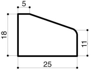 Bordure béton d'îlot directionnel I2 larg.25cm haut.18cm long.50cm - Gedimat.fr