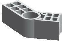 Bloc béton de chaînage vertical multi-angle rectifié PLANIBLOC ép.20cm haut.20cm long.53cm - Gedimat.fr