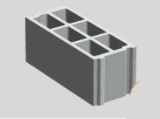 Bloc béton creux PLANIBLOC NF B60 ép.20cm haut.20cm long.50cm - Gedimat.fr