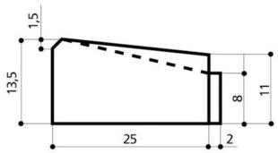 Caniveau béton CS2 réduit larg.25cm haut.10,5cm long.1m - Gedimat.fr
