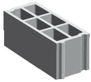Bloc béton creux PLANIBLOC NF B40 ép.10cm haut.20cm long.50cm - Gedimat.fr
