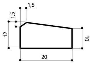 Caniveau béton CS1 larg.20cm haut.12cm long.1m - Gedimat.fr