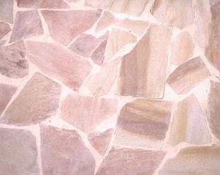 plaquette de parement en pierre naturelle opus incertum rose orient. Black Bedroom Furniture Sets. Home Design Ideas