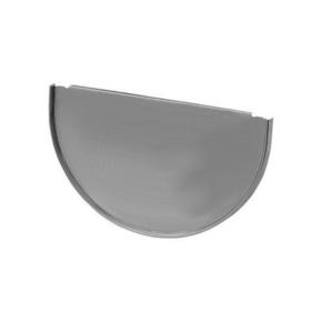Talon emboîtable demi-rond zinc naturel développé 33,3cm - Gedimat.fr