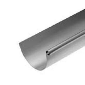 Gouttière LYONNAISE boudin 18mm sans pince zinc naturel ép.0,65mm développé 250mm long.4m - Gedimat.fr
