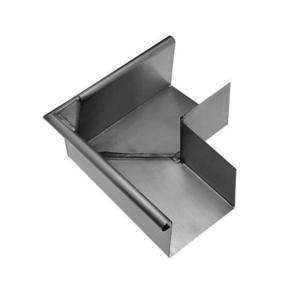 Angle extérieur équerre 90° zinc naturel pour gouttière carrée développé 33,3cm - Gedimat.fr