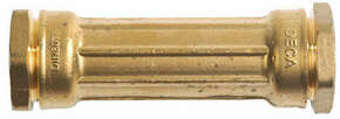 Manchon droit laiton massif pour tuyau polyéthylène diam.25mm - Gedimat.fr