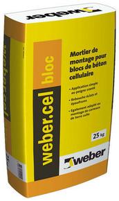 Mortier de montage WEBER.CEL BLOC sac 25 kg - Gedimat.fr