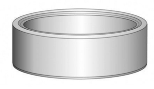 Anneau de puits en béton droit diam.int.1m haut.30cm - Gedimat.fr