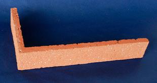 plaquette d 39 angle en terre cuite p 1 4cm rouge sabl. Black Bedroom Furniture Sets. Home Design Ideas