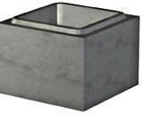 Elément de pilier béton à enduire dim.ext.20x20cm haut.25cm - Gedimat.fr