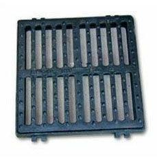 Grille fonte C250 carrée plate avec cadre de 50x50cm - Gedimat.fr