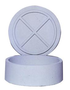 Réhausse de visite cylindrique en béton diamètre intérieur 53,5cm hauteur 20cm - Gedimat.fr