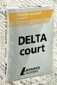 Plâtre manuel allégé DELTA COURT sac de 33kg - Gedimat.fr