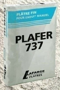 Plâtre manuel traditionnel fin PLAFER 737 sac de 40kg - Gedimat.fr