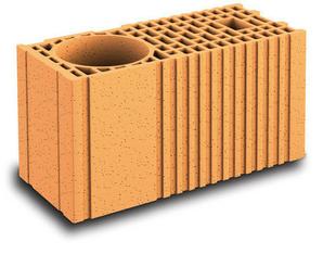 Brique terre cuite poteau complémentaire POROTHERM R20 ép.20cm haut.18,9cm long.45cm - Gedimat.fr