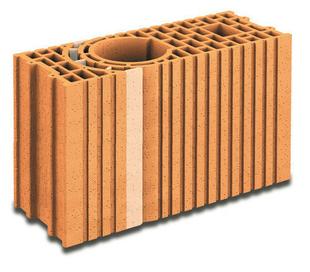 Brique terre cuite poteau multi-angles POROTHERM R20 ép.20cm haut.24,9cm long.51,5cm - Gedimat.fr