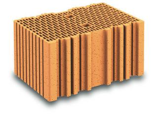 Brique terre cuite complémentaire POROTHERM R37 ép.37,5cm haut.18,9cm long.25cm - Gedimat.fr