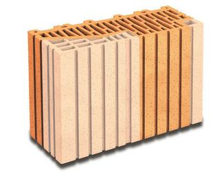 Brique terre cuite demi-tableau ébrasement 20 POROTHERM R37 ép.37,5cm haut.24,9cm long.12,5cm - Gedimat.fr