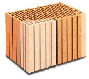 Brique terre cuite tableau ébrasement POROTHERM R37 ép.37,5cm haut.24,9cm long.25cm - Gedimat.fr