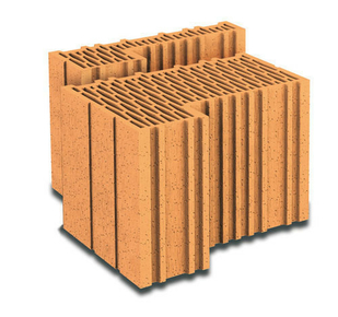 Brique terre cuite feuillure + demi-feuillure POROTHERM R37 ép.37,5cm haut.24,9cm long.31,4cm - Gedimat.fr